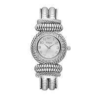 Vivani Women's Crystal Textured Cuff Watch