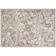 Nourison Graphic Illusions Gray Scroll Rug