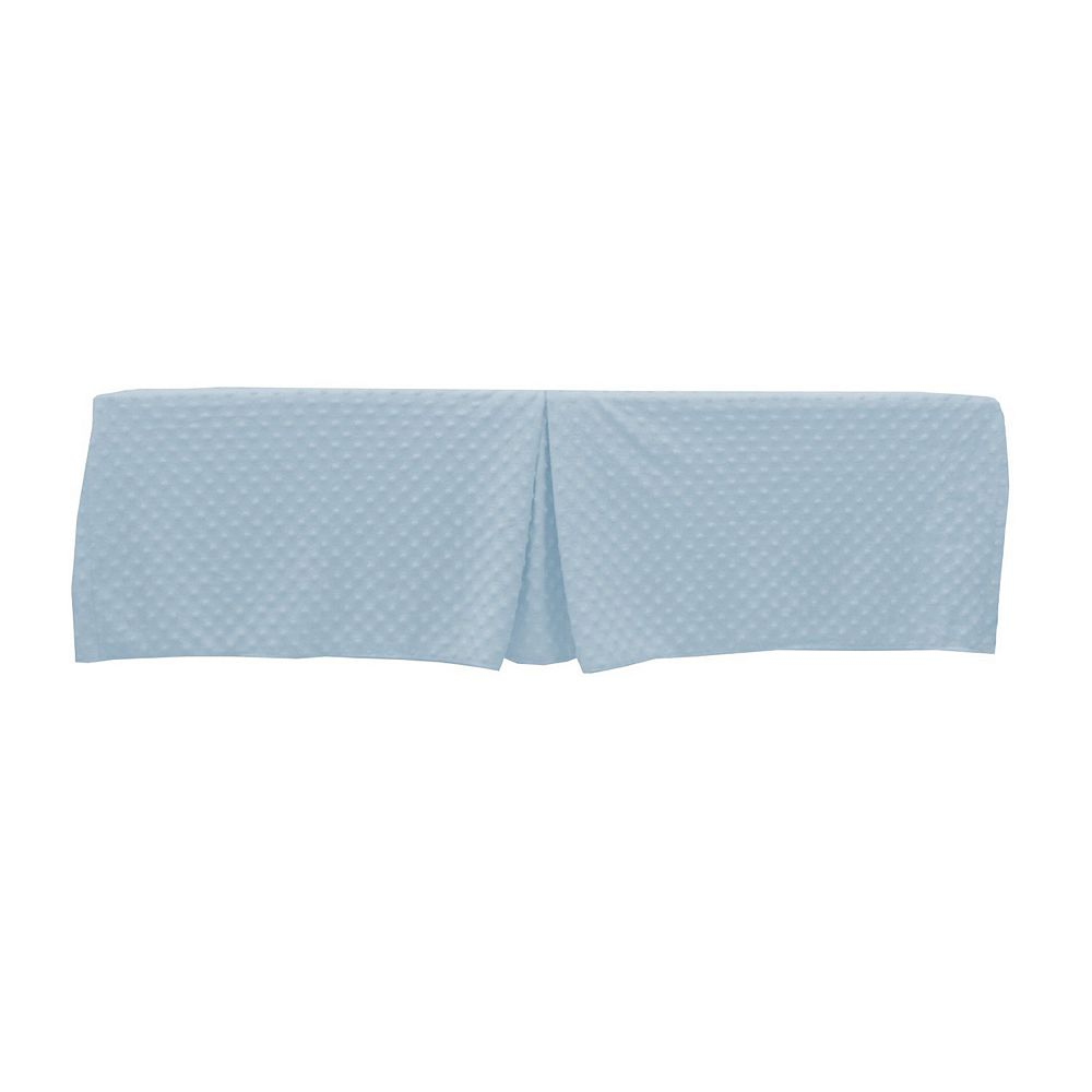 TL Care Heavenly Soft Minky Dot Tailored Crib Skirt