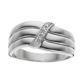 Diamond Accent Sterling Silver Wedding Ring