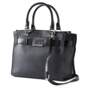 Dana Buchman Buckle Crocodile Shopper