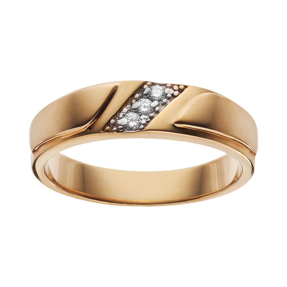 Cubic Zirconia 14k Gold Over Silver Wedding Ring