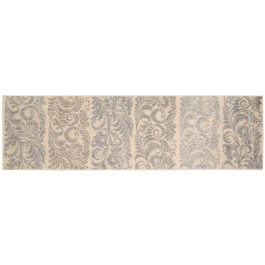 Nourison Utopia Striped Floral Rug
