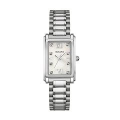Bulova Women's Diamond Stainless Steel Watch - 96P157