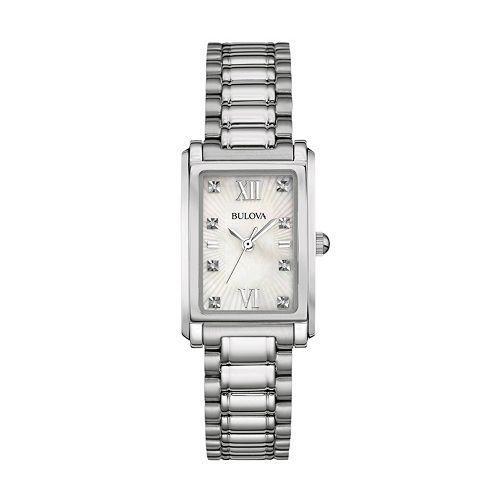 Bulova Women's Diamond Stainless Steel Watch - 96P157