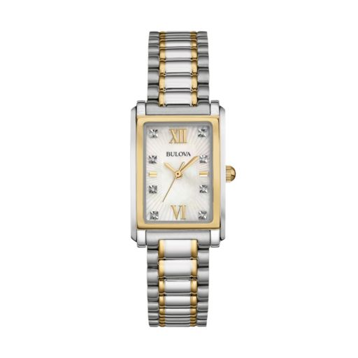 Bulova Women's Diamond Two Tone Stainless Steel Watch - 98P144