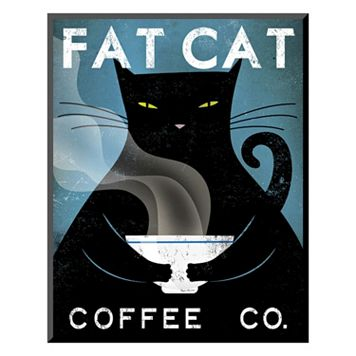 Art.com ''Cat Coffee'' Wall Art