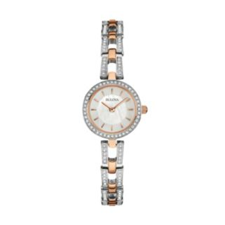 Bulova Women's Crystal Two Tone Stainless Steel Watch
