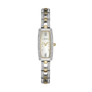 Bulova Women's Crystal Two Tone Stainless Steel Watch - 98L214