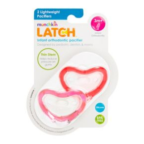 Munchkin Latch 2-pk. Lightweight Infant Orthodontic Pacifiers