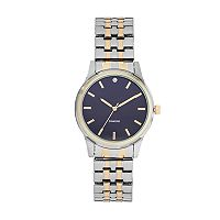 Men's Two Tone Diamond Accent Expansion Watch