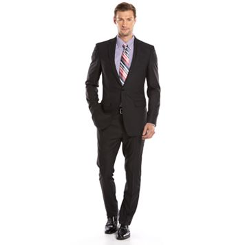 Men's Apt. 9® Extra-Slim Fit Herringbone Black Suit Jacket