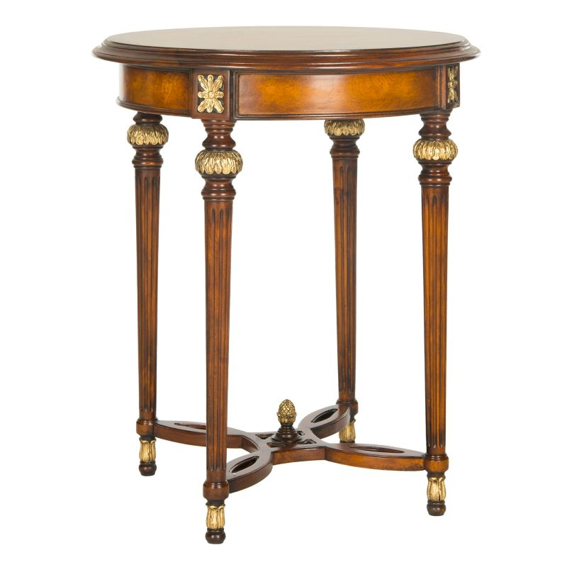 Safavieh Couture Bromley Round End Table, Brown