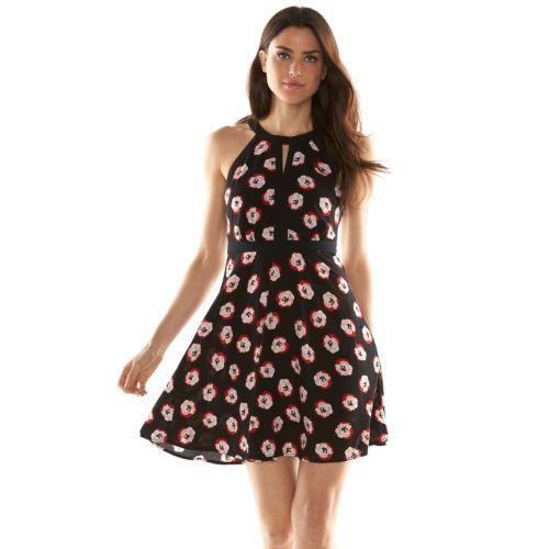 ELLE? Floral A-Line Dress - Women's