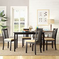 HomeVance 5 pc Larson Wide Slat Back Dining Set