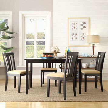 HomeVance 5-piece Larson Wide Slat Back Dining Set
