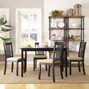 HomeVance 5 pc Larson Slat Back Dining Set