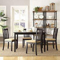 HomeVance 5 pc Larson Slat Back Dining Set