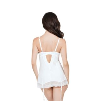 Affinitas Pearl Unlined Lace Babydoll Lingerie A1048