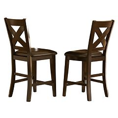 HomeVance 2 pc Glenmark X-Back Counter Stool Set