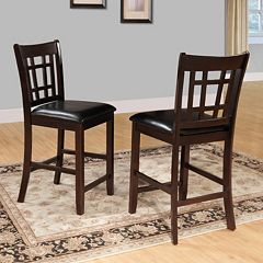 HomeVance 2-piece Kiana Window Back Counter Stool Set