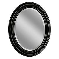 Head West Sonoma Espresso Oval Wall Mirror