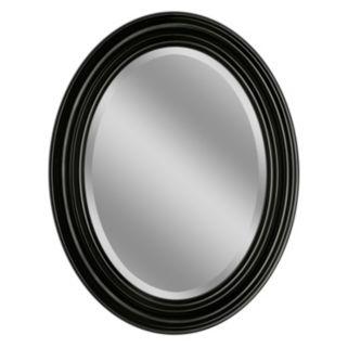 Head West Sonoma Espresso Oval Wall Mirror