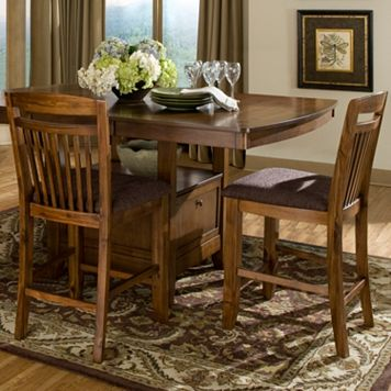 HomeVance 2-piece Kildare Mission Counter Stool Set