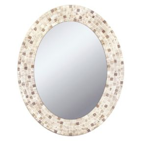 Head West Mosaic Oval Wall Mirror