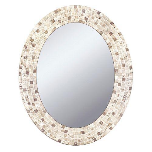 Head West Mosaic Oval Wall Mirror