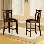 HomeVance 2 pc Moulin Fiddle Back Counter Stool Set