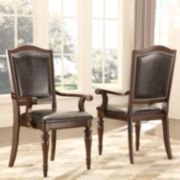 HomeVance 2-piece Hanbury Faux Leather Arm Chair Set