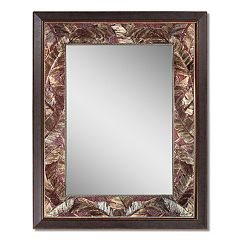 Head West Tropical Leaf Wall Mirror