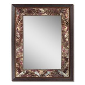 Head West Tropical Leaf Wall Mirror