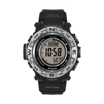 Casio Men's PRO TREK Digital Solar Watch - PRW3500-1CR