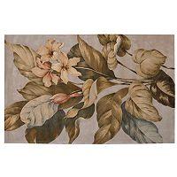 Nourison Tropics Floral Beige Wool Rug