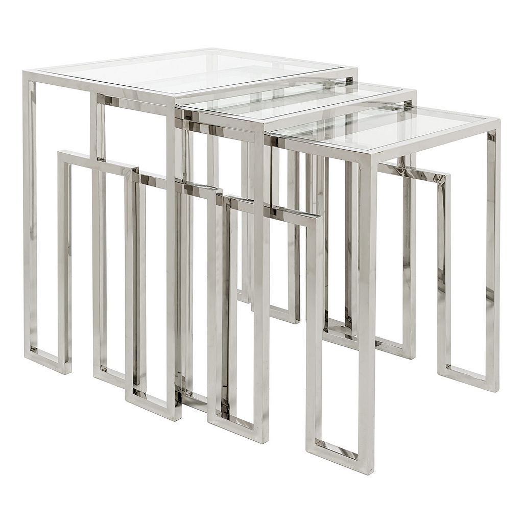 Safavieh Couture Theo 3-piece Nesting Table Set