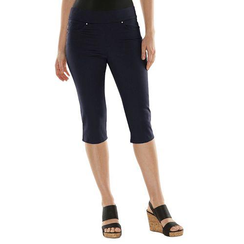 4000ee9f83e Gloria Vanderbilt Avery Comfort Flex Pull-On Skimmer Capris - Women s