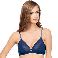 Affinitas Bra: Greta Wire-Free Lace Triangle Bra A11222 - Women's