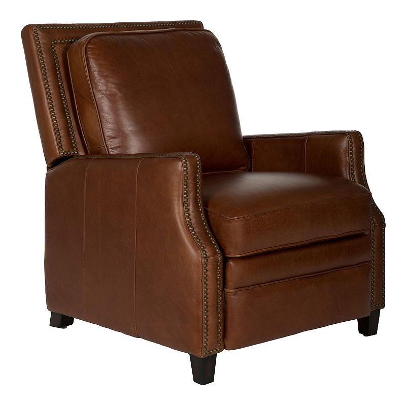 Safavieh Couture Buddy Leather Recliner Arm Chair (Brown)