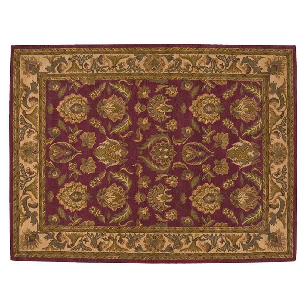 Nourison India House Floral Medallion Wool Rug