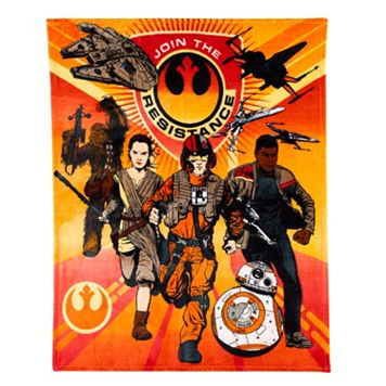 Star Wars: Episode VII The Force Awakens The Resistance Throw Blanket