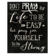 ''Don't Pray For Life'' Canvas Wall Art
