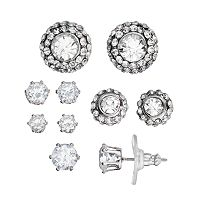 Circle Stud Earring Set