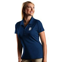 Women's Antigua Detroit Tigers Xtra-Lite Desert-Dry Pique Performance Polo