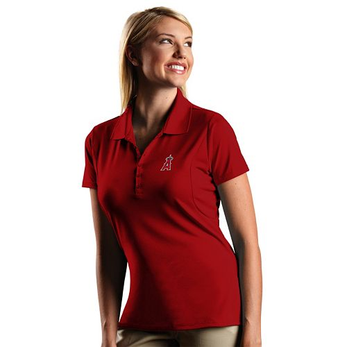 Women s Antigua Los Angeles Angels of Anaheim Xtra-Lite Desert-Dry Pique Performance  Polo 1d746c97a
