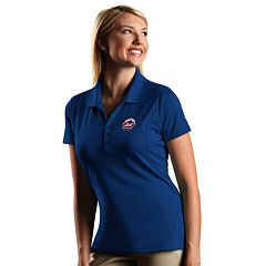 Women's Antigua New York Mets Xtra-Lite Desert-Dry Pique Performance Polo