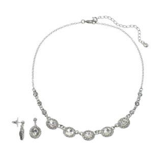 Oval Necklace & Drop Earring Set