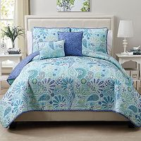 VCNY Harmony 5 pc Reversible Quilt Set