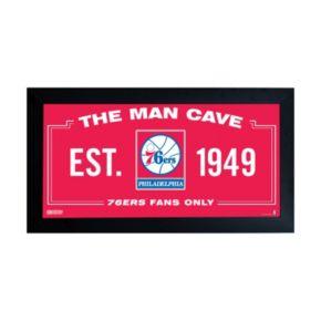 "Steiner Sports Philadelphia 76ers Framed 10"" x 20"" Man Cave Sign"